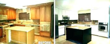 Average Cost Of Kitchen Cabinet Refacing Delectable Cost To Stain Cabinets Catovicamlinime