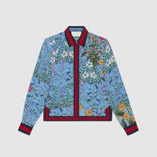 gucci shirt. new flora print silk shirt gucci e