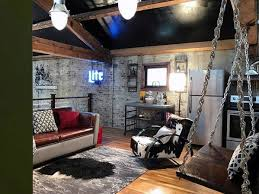 basement interior design. Awesome Mens Basement Man Cave With Rustic Design Interior