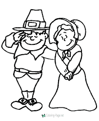 Pilgrim And Indian Coloring Sheets Pilgrim Color Page Thanksgiving