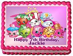 Shopkins Personalized Edible Cake Topper Image 14 Sheet Amazon