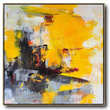 hand painted oversized palette knife painting contemporary art on canvas large square canvas art landscape painting huge