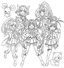 Glitter Force Coloring Pages Mostly Custom Glitter Force