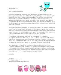 Back To School Letter Template