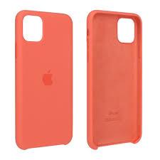 Apple iPhone 11 Pro Max Silicone Case Orange — Talk-Point DE