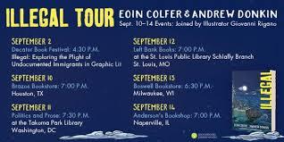 eoin colfer illegal book tour us