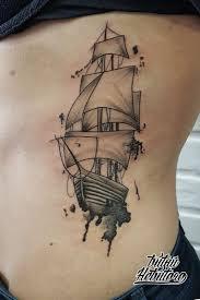 тату акварель тату корабль акварель тату акварель на боку