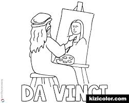Mona Lisa Coloring Page Coloring