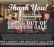High end D C area retailer Colony House Furniture to close