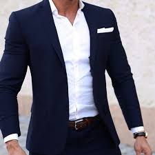 Men Summer Suits <b>Custom Made</b> Light Weight Breathable <b>Blue</b> Man ...