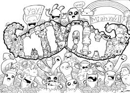 Small Picture Mustache Doodle Art Coloring Page Grown Ups Art Of Doodles