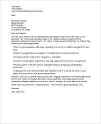 executive assistant cover letters sample executive assistant cover letter 7 examples in