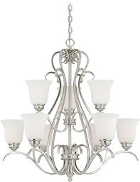 vaxcel h0151 hartford satin nickel chandelier lighting loading zoom