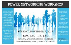 networking flyer temecula chamber of commerce power networking workshop