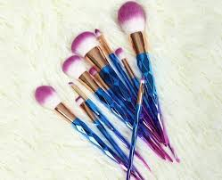 unicorn brush set. unicorn handle brush set (10pcs-bp)