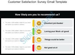 Email Survey Template We Free Templates Customer Satisfaction