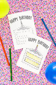 free printable birthday cards for kids studio diy