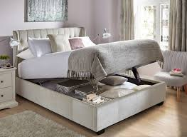 Ottoman In Bedroom Sana Pearl Fabric Ottoman Bed Frame
