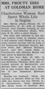 Obituary for Myrtle PROUTY (Aged 63) - Newspapers.com