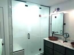 aqua glass tub shower doors over framed and with door bottom seal