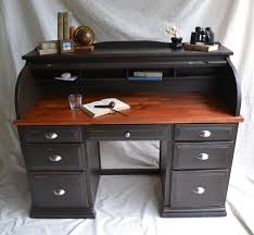 black painted roll top desk plans the desk has seven drawers each with nickel plated