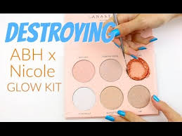 the makeup breakup destroying weighing re pressing the anastasia beverly hills nicole glow kit