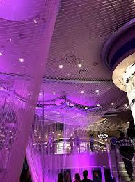 the chandelier inside the bar