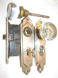 Beautiful Art Deco glass/crystal door knob set