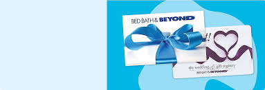The gift card can be used for full or partial redemption at any bed bath & beyond retail location or online and can be used towards any purchase; Gift Cards Bed Bath Beyond Bed Bath Beyond