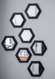 geometric makeover wall mirror set mod retro vintage
