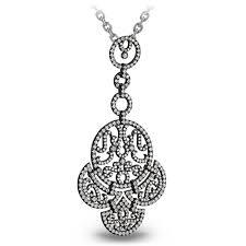 18ct black gold lace chandelier pendant