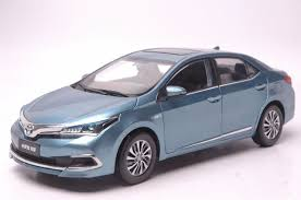 toyota corolla 2015 blue.  2015 118 Diecast Model For Toyota Corolla Hybrid Premium 2015 Blue Alloy Toy  Car Collection Throughout