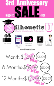 Silhouette Designs For Sale Silhouette U 3rd Anniversary Sale Lock In The Savings For A