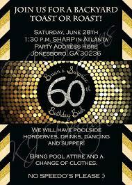 60th Birthday Invitations For Him Inspiratial Invitation Ideas Free