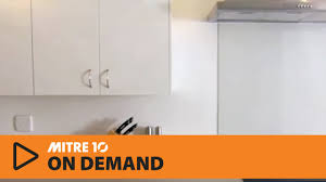 Mitre 10 Mega Kitchen Cabinets How To Install A Flat Pack Kitchen Part 3 Mitre 10 Easy As