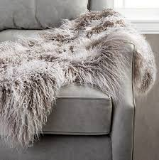 arhaus fur throw
