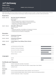 Security Clearance Resumes Military To Civilian Resume Examples Template For Veterans