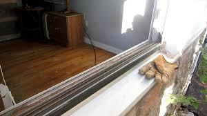 replace aluminum window glass pane and remove vinyl strip snap in glazing bead plexiglass you
