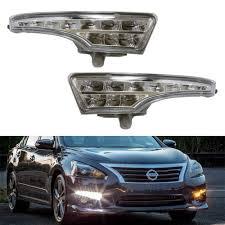 2017 Nissan Altima Led Fog Lights Exact Fit Led Daytime Running Lights Assembly For 2013 2015 Nissan Altima Sedan Powered By 10 White Led Drl 10 Amber Led Turn Signals