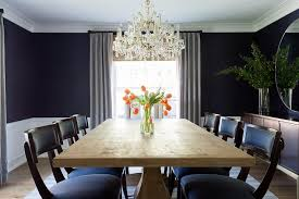 navy blue dining rooms. Reclaimed Wood Dining Table With Klismos Chairs Navy Blue Rooms I