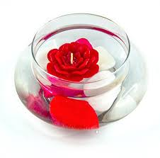 Decorative Glassware Bowls State of the Art Alluring Glass Showpiece With Floating Candle 45