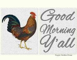 on rooster wall art for kitchen with rooster wall art kitchen decor good morning y all chevron