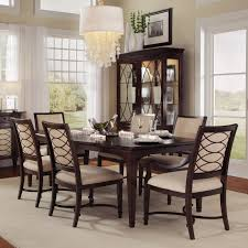 maple wood dining room table. a.r.t. furniture intrigue 7 piece rectangle dining set with upholstered back chairs - dark wood maple stringer inlay | hayneedle room table i