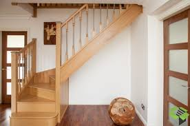 Closed Oak Staircase with Axxys Balustrade