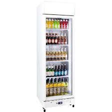 schmick upright 1 door commercial glass front bar fridge