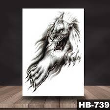 водостойкая временная татуировка наклейка животное лев шаблон тату