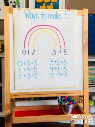 Making 10 Anchor Chart Ways To Make 5 And 10 Rainbows Of Fun Littlest Scholars