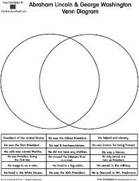 abraham lincoln george washington presidents venn diagram a to  related printables