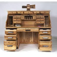 stylish office desks. Stylish Office Desk Usa Rustic Hickory Roll Top Workstation 47 3062rt Dot Amish Oak Desks
