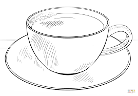 Cup Of Coffee Coloring Page Free Printable Coloring Pages